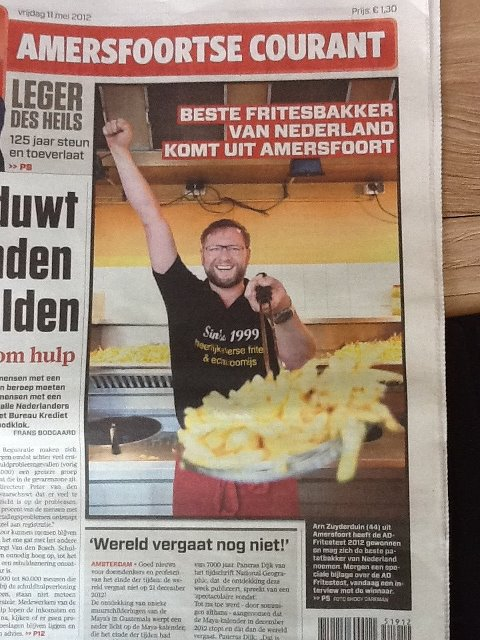 de winnnaar van de ad friettest 2012